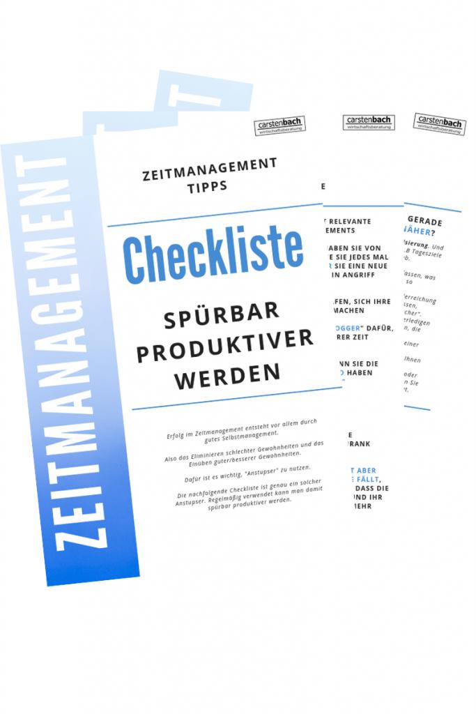 Checkliste Zeitmanagement, Zeitmanagement Tipps, Produktivität steigern, produktiver werden
