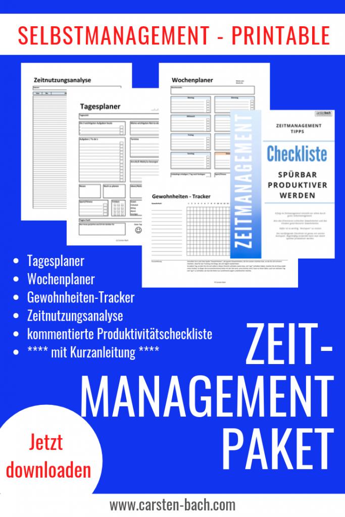 Zeitmanagement, Selbstmanagement, Printables, Formblätter, Habit Tracker, Gewohnheiten Tracker, Tagesplan, Wochenplan, Zeitnutzung, Zeitmanagement Tipps, produktiver werden, Produktivität steigern