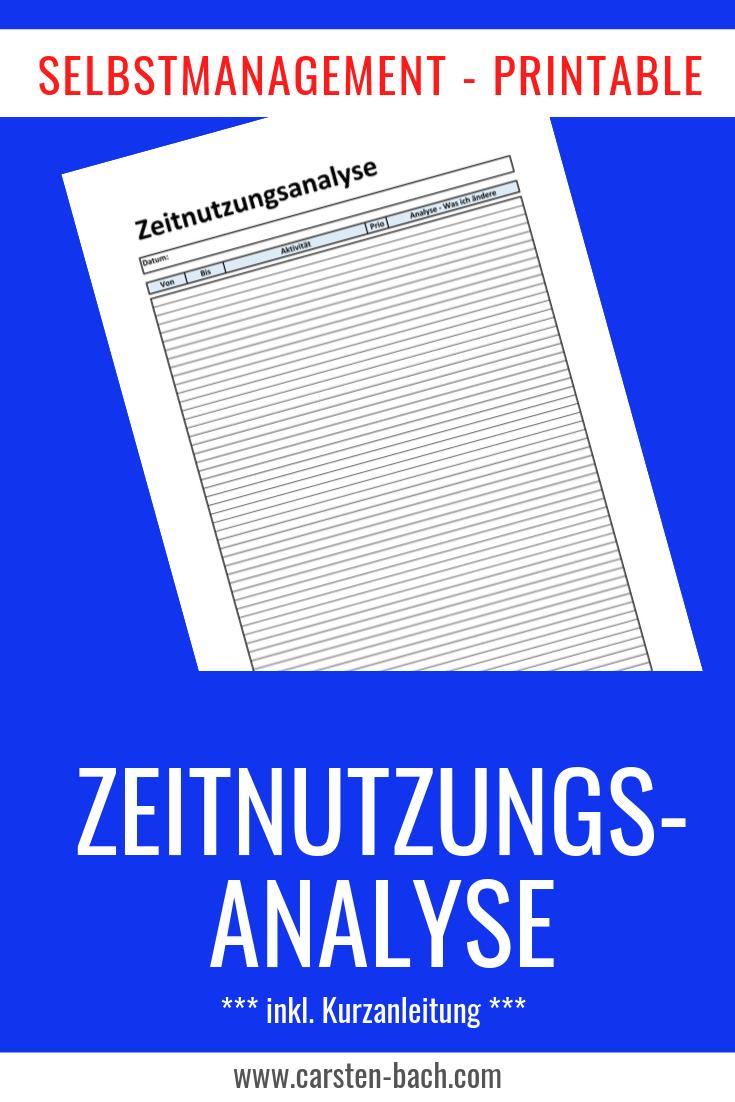 Zeitnutzungsanalyse, Zeitnutzung, Bullet Journal, Printable, Zeitmanagement, Selbstmanagement, Formblatt, Template, Tipps