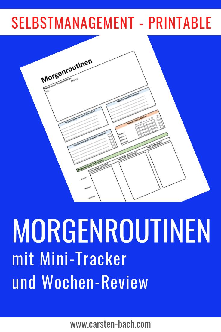 Morgenroutine, Morgenroutinen, Zeitmanagement, Selbstmanagement, Tipps, Printable, Bullet Journal, Template, Gewohnheiten, Effizienz
