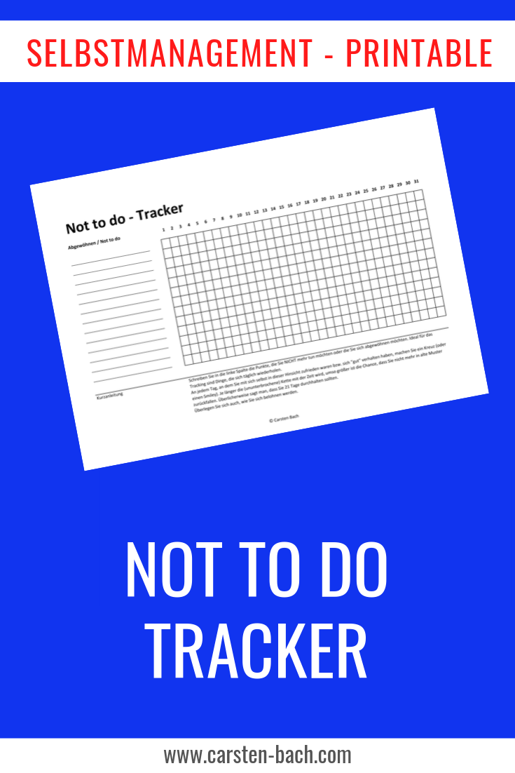 No to to, No to do Liste, Not to to tracker, habit tracker, Zeitmanagement, Selbstmanagement, Tipps, Printable, Bullet Journal, Gewohneiten, Gewohnheiten ändern