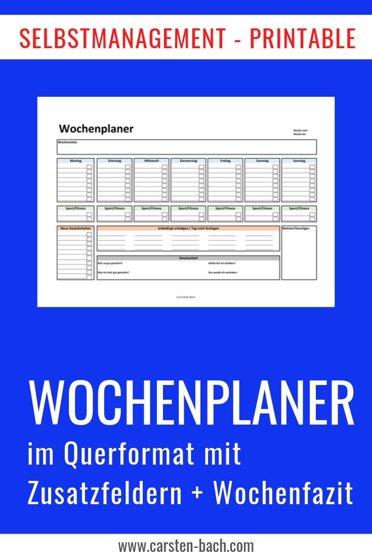 Wochenplaner, Planung, Wochenplan, Wochenplanung, Zeitmanagement, Selbstmanagement, Tipps, Printables, Bullet Journal, Formblatt, Template