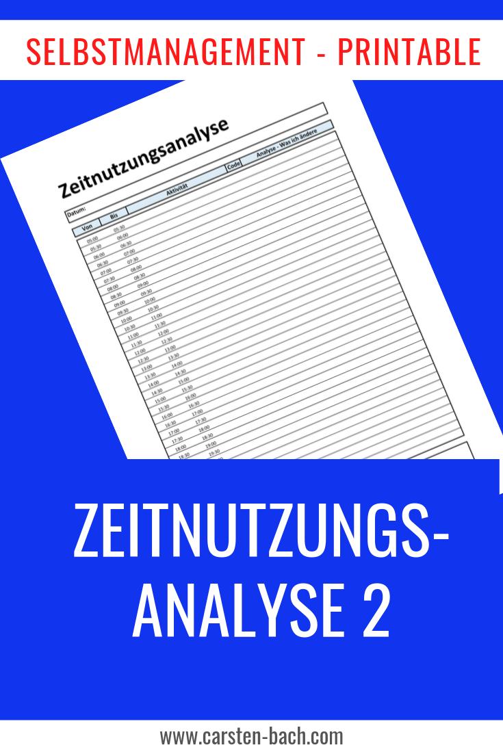 Zeitnutzung, Zeitnutzungsanalyse, Effizienz, Selbstmanagement, Zeitmanagement, Printable, Bullet Journal, Formblatt, Tipps