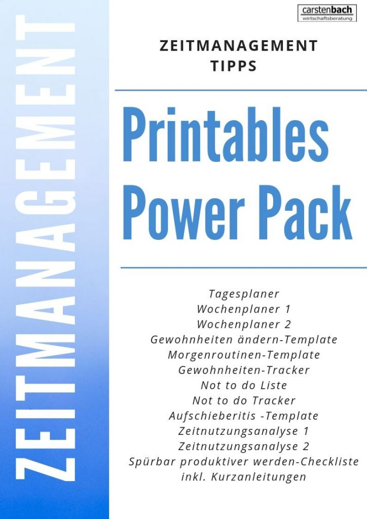 Zeitmanagement, Printables, Tracker, Selbstmanagement, Templates, Formblätter, Tipps
